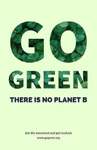Go Green Kampagneplakat