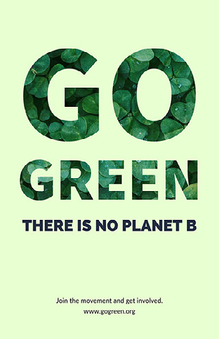 Go Green Campagneposter