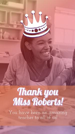 Orange Thank You Teacher Instagram Story Teacher Appreciation Messages
