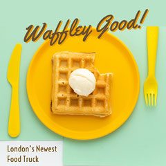 Yellow and Blue Waffley Good Instagram Graphic Food Truck