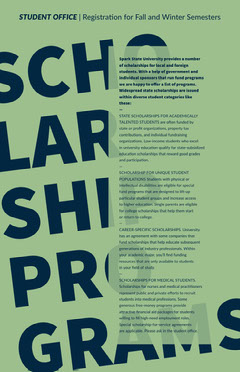 Green and Blue Scholarship Program Information Flyer Tax Flyer