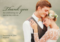 green wedding couple thank you card  Thank You Messages