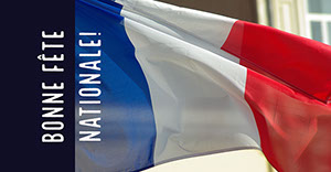 Red, White and Blue French Flag Facebook Banner Bannière