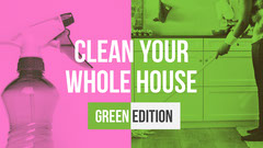 Pink and Green Cleaning House Youtube Tutorial Cleaning Service