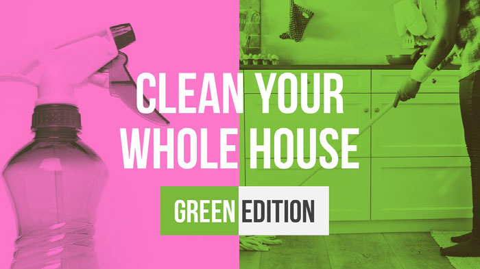 Pink and Green Cleaning House Youtube Tutorial  Ideas de banner YouTube