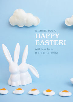 happy easter day card  Easter