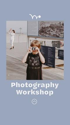 Blue Photography Workshop Instagram Story Workshop