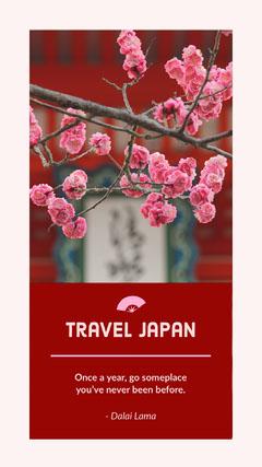 travel japan Instagram story  Japan