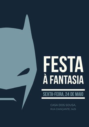 Festa <BR>à fantasia Convite para festa