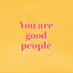 Yellow You Are Good People Animation Instagram Square