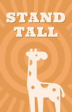 Orange Illustrated Motivational Phrase Flyer with Giraffe Animal