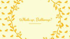 Yellow Floral Desktop Wallpaper Background