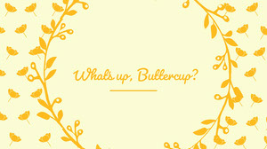 Yellow Floral Desktop Wallpaper Desktop Wallpaper