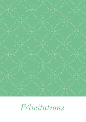 patterned mint green congratulations cards Carte de félicitations