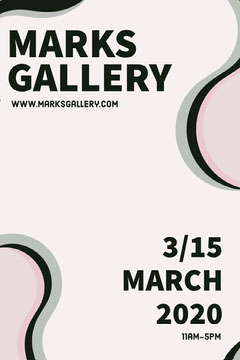 Art Gallery Event Poster Pinterest Ad Gallery