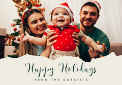 Happy Holidays Baby Young Family Card Family