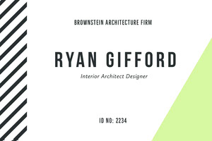 Interior Architect Designer ID Card Dienstausweis
