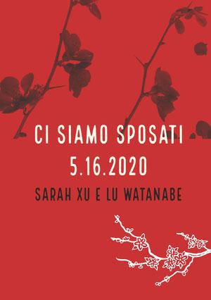 red orchids wedding announcements  Annunci di matrimonio