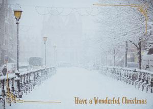 Light Toned, Winter Christmas Card  Deseos de Navidad