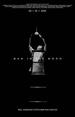 Black and White Minimalistic Movie Poster  Moon