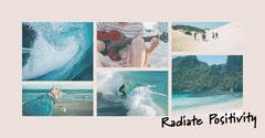 Radiate Positivity Instagram Landscape Collage Ocean