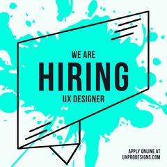 we're hiring graphic Now Hiring Flyer