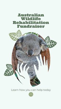 Green with Oval Leaf Frames Australia Wildlife Fund Instagram story Fundraiser