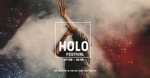 Modern Minimalist Music Festival Facebook Post Pósters para Festivales de música