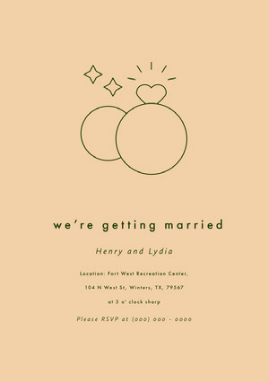 Green and Beige Engagement Invitation Einladung zur Verlobung