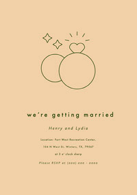 we're getting married Engagement Invitation