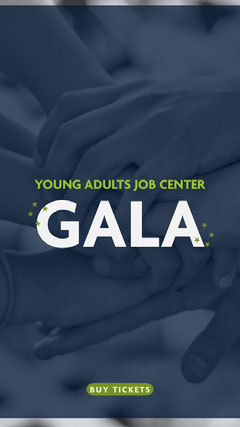 Blue and Green Job Center Instagram Story Gala Flyer