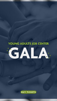 YOUNG ADULTS JOB CENTER<BR>GALA Advertentie