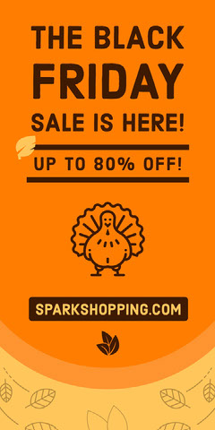 black Friday turkey web ad Thanksgiving Sale