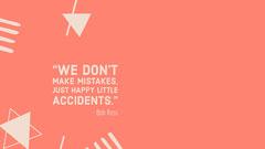 Orange Inspirational Quote Desktop Wallpaper Background