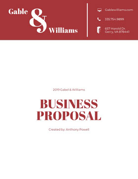 Red and White Business Proposal Forslag