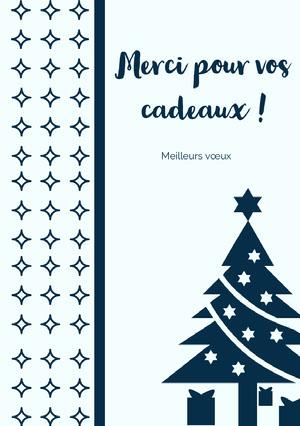 Merci pour vos cadeaux!  Carte de Noël