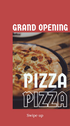 Claret With Photo Of Pizza Social Post Grand Opening Flyer
