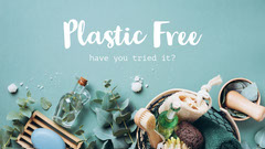 Blue White Plastic Free Eco Friendly Youtube Banner Earth