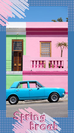 Blue and Pink Spring Break Snapchat Filter Spring