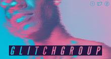 Cyan and Pink Glitch Art Twitch Banner Twitch-Banner