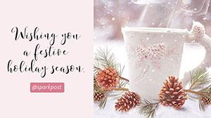Light Pink Holiday Greeting Message Presentation