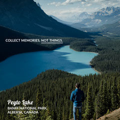 Collect Memories Instagram Square Lake