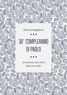 30° compleanno <BR>di Paolo  Invito
