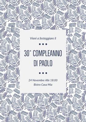 30° compleanno <BR>di Paolo  Invito al compleanno