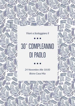 30° compleanno <BR>di Paolo  Invito a una festa