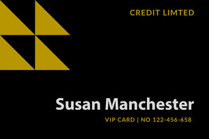 Black and Gold Credit Service VIP Card Dienstausweis