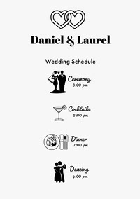 Daniel & Laurel  Wedding Program