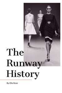 Black and White The Runway History Book Cover Copertina libro
