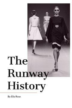 Black and White The Runway History Book Cover History