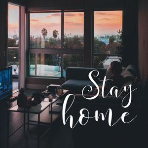 """stay home instagram  Poster """"Wir bleiben zuhause"""""""
